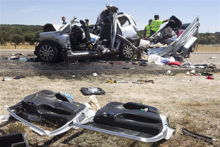 Crianças mortas em acidente em Espanha são portuguesas